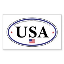 USA Emblem Rectangle Decal