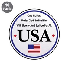 """USA Emblem 3.5"""" Button (10 pack)"""