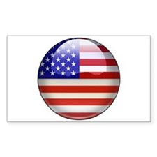 Flag Jewel Rectangle Sticker 10 pk)