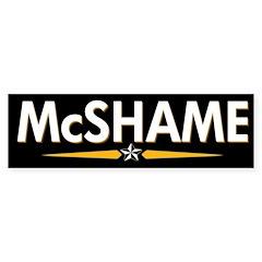 McShame Anti-McCain Bumper Bumper Sticker