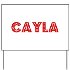 Retro Cayla (Red) Yard Sign