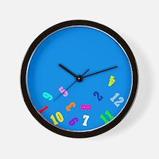 Oops Falling Numbers Wall Clock