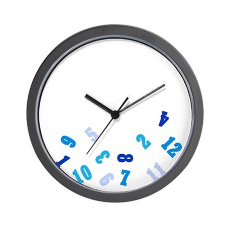 Oops Falling Numbers Wall Clock By Chocolatesoup