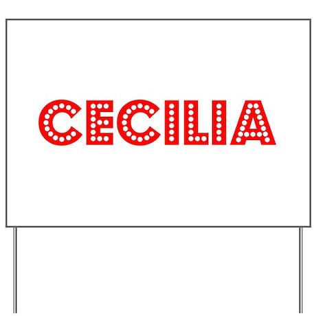 Retro Cecilia (Red) Yard Sign