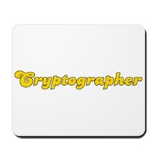 Retro Cryptographer (Gold) Mousepad
