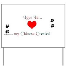 Crested Love Yard Sign