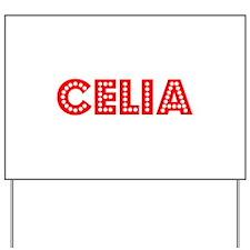 Retro Celia (Red) Yard Sign