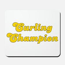 Retro Curling Cha.. (Gold) Mousepad