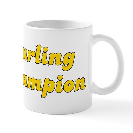 Retro Curling Cha.. (Gold) Mug