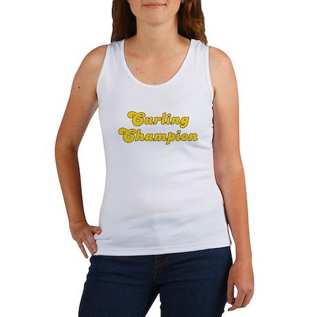 Retro Curling Cha.. (Gold) Women's Tank Top