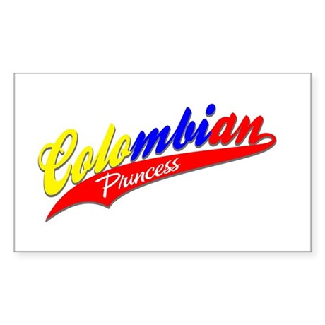 COLOMBIAN Rectangle Sticker