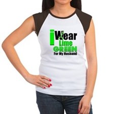 Lime Green Ribbon Women's Cap Sleeve T-Shirt