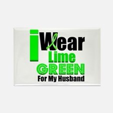 Lime Green Ribbon Rectangle Magnet