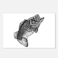 Largemouthed Bass Postcards (Package of 8)
