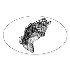 Largemouthed Bass Oval Decal