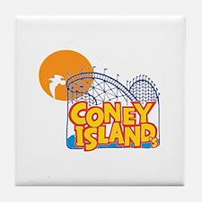 Coney Island Tile Coaster