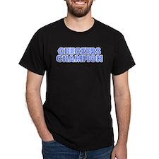 Retro Checkers Ch.. (Blue) T-Shirt