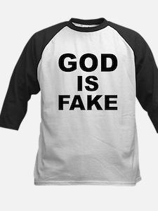 GOD IS FAKE Kids Baseball Jersey