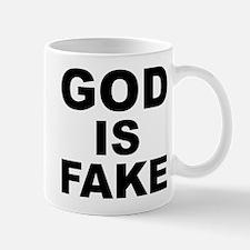 GOD IS FAKE Small Small Mug