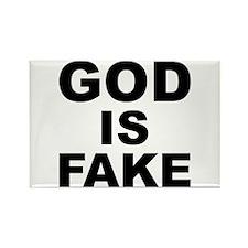 GOD IS FAKE Rectangle Magnet