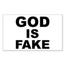 GOD IS FAKE Rectangle Decal