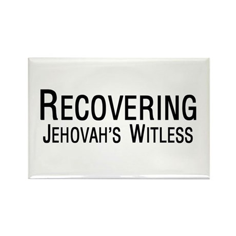Rectangle Magnet - Recovering Jehovah's Witless