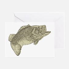 Largemouthed Bass Greeting Card