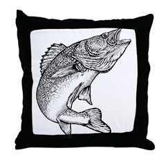 Walleye Throw Pillow