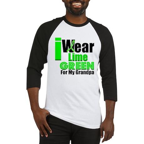 I Wear Lime Green Grandpa Baseball Jersey