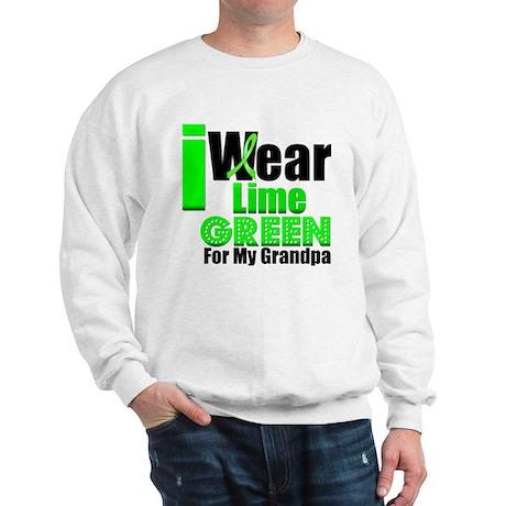 I Wear Lime Green Grandpa Sweatshirt