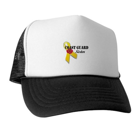 Coast Guard Sister (Ribbon Rose) Trucker Hat