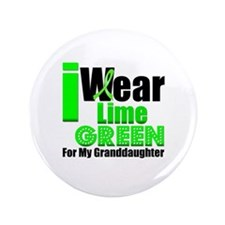 "Lime Green Granddaughter 3.5"" Button"