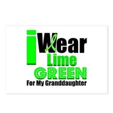 Lime Green Granddaughter Postcards (Package of 8)