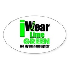 Lime Green Granddaughter Oval Sticker (10 pk)