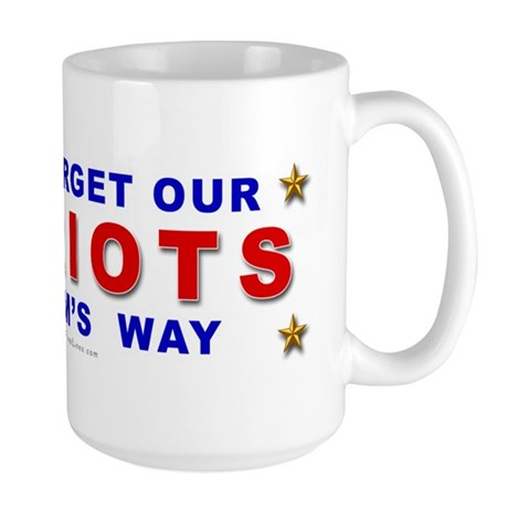 Don't Forget Our Patriots Large Mug
