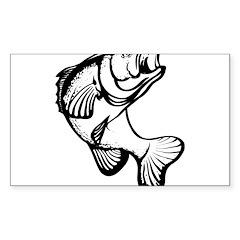 Smallmouthed Bass Rectangle Sticker 10 pk)
