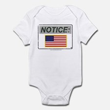 Notice (Gray with Color U.S. Flag) 'Aged Print' In