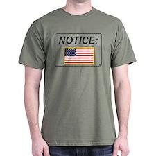 Notice (Gray with Color U.S. Flag) 'Aged Print' Da