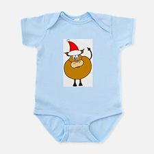 Christmas Cow Infant Creeper
