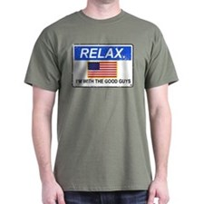 Relax. I'm with the Good Guys 'Aged Print' T-Shirt