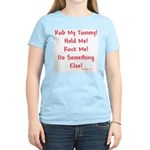 Rub My Tummy... Women's Pink T-Shirt