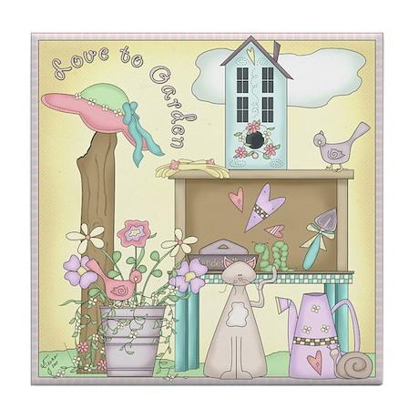 Love to Garden Tile Coaster