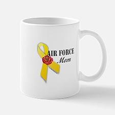 Air Force Mom (Ribbon Rose) Mug