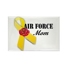 Air Force Mom (Ribbon Rose) Rectangle Magnet