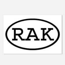 RAK Oval Postcards (Package of 8)