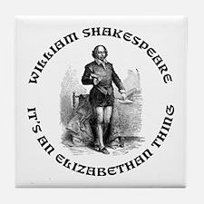 WILLIAM SHAKESPEARE T-SHIRTS Tile Coaster