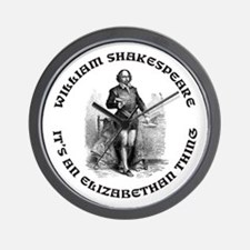 WILLIAM SHAKESPEARE T-SHIRTS Wall Clock