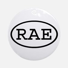 RAE Oval Ornament (Round)