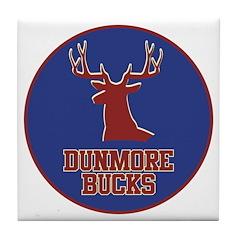 Dunmore Bucks Logo Tile Coaster