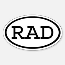 RAD Oval Oval Decal